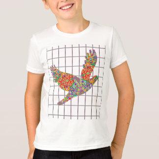 GLÜCKLICHE Engels-Vogel-Beschaffenheit durch Navin T-Shirt