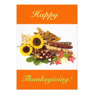 Glückliche Erntedank-Sonnenblumen V Ankündigungskarte