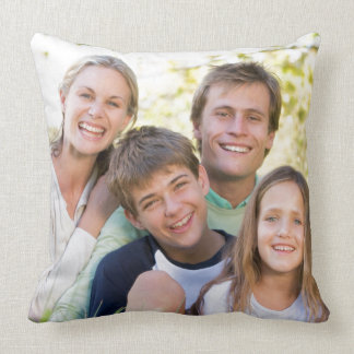 Glückliche Familien-Liebe und Lächeln Kissen