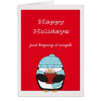 Glückliche Feiertage niedlicher Penguin Karte