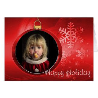 Glückliche Feiertags-Foto-Rahmen-Gruß-Karte Grußkarte