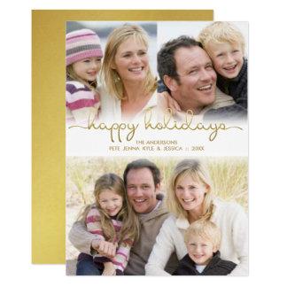 Glückliche Feiertags-Handmit buchstaben 12,7 X 17,8 Cm Einladungskarte