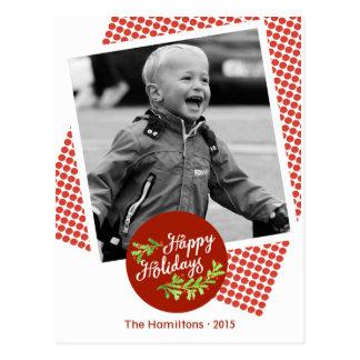 Glückliche Feiertags-moderne Postkarte