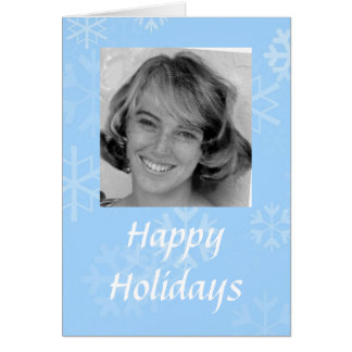 Glückliche Feiertags-Schneeflocke-Foto-Schablone Karte