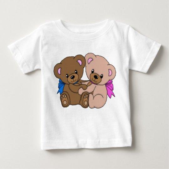 Glückliche feste Umarmung Baby T-shirt