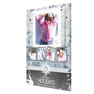 Glückliche Foto-Collage des Feiertags-Weihnachten5 Leinwanddruck