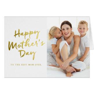 Glückliche Foto-Karte der Mutter gefaltete Tages Karte