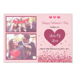 Glückliche Foto-Karte des Valentines Tages 12,7 X 17,8 Cm Einladungskarte