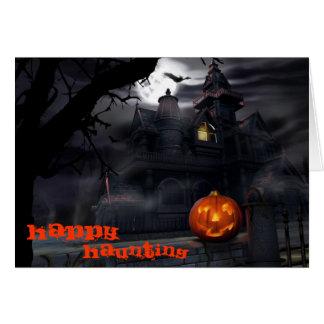 Glückliche frequentierende Halloween-Karte Karte