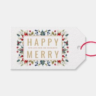 Glückliche fröhliche personalisierte geschenkanhänger