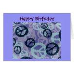 Glückliche Geburtstag-Friedenszeichen/Camouflage B Karte