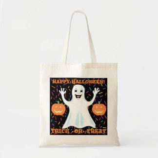 Glückliche Geist-Halloween-Taschen-Tasche Budget Stoffbeutel