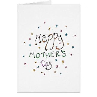Glückliche Gekritzel-Karte der Mutter Tages Grußkarte