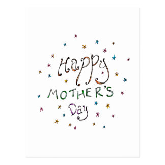 Glückliche Gekritzel-Postkarte der Mutter Tages Postkarte