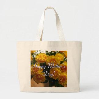 Glückliche Gelb-Rosen der Mutter Tages Taschen
