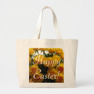 Glückliche gelbe Rose Ostern - kundengerecht Tragetasche