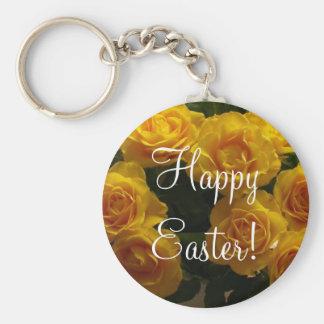 Glückliche gelbe Rose Ostern Schlüsselband