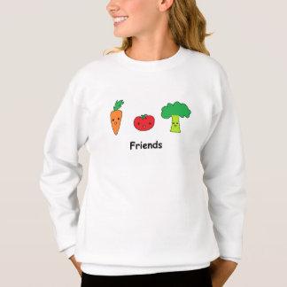Glückliche Gemüsefreunde Sweatshirt