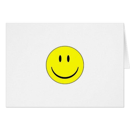 Glückliche Gesichts-Anmerkungs-Karte Mitteilungskarte