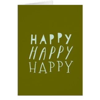 Glückliche glückliche glückliche karte