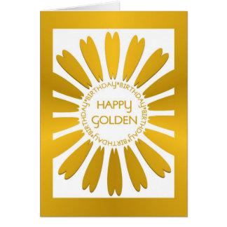 Glückliche goldene Geburtstags-Karte Grußkarte