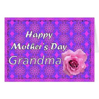 Glückliche Großmutter der Mutter Tages Karte
