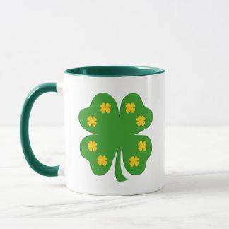Glückliche grüne Klee-Tasse Tasse