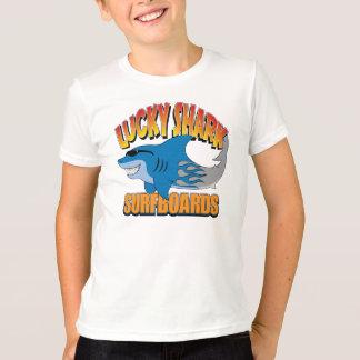 Glückliche Haifisch-Surfbretter T-Shirt