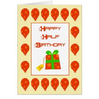 Glückliche halbe Geburtstags-Karte Karte