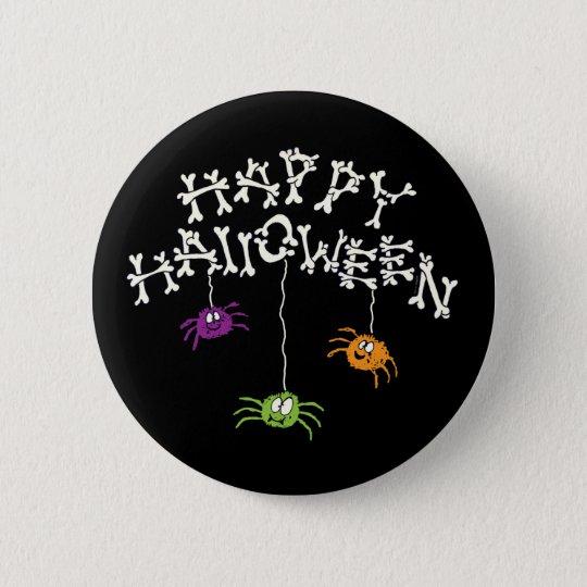 Glückliche Halloween-Knochen Runder Button 5,1 Cm