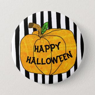 Glückliche Halloween-Kürbis-Aufkleber Runder Button 7,6 Cm