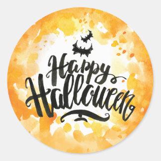 Glückliche Halloween-Schläger im Runder Aufkleber