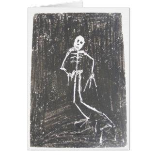 Glückliche Halloween-Skelett-Karte Karte