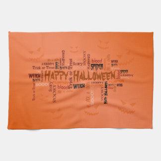 Glückliche Halloween-Typografie - Geschirrtuch