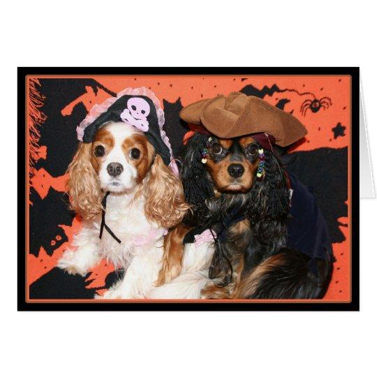 Glückliche Halloween-unbekümmerte Königcharles Grußkarte