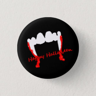Glückliche Halloween-Vampire! Runder Button 3,2 Cm