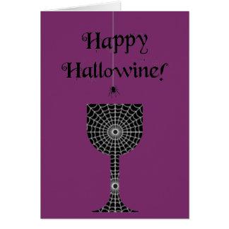 Glückliche Hallowine Halloween Karte