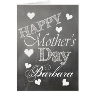 Glückliche ~Hearts der Tag der Mutter auf Tafel Karte