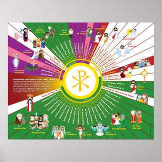 Glückliche Heilig-liturgischer Kalender 2018 Poster