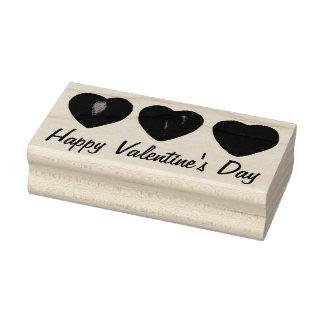 Glückliche Herz-Herz-Briefmarke des Valentines Gummistempel