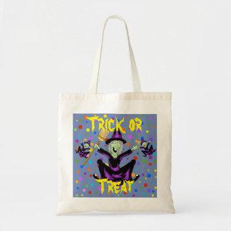 Glückliche Hexe-Halloween-Taschen-Tasche Budget Stoffbeutel