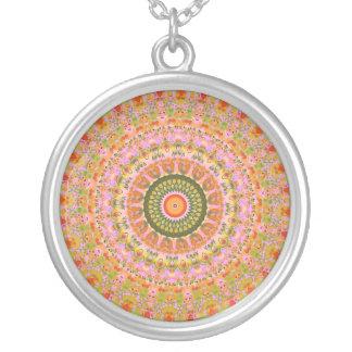 Glückliche Hippie-Mandala Versilberte Kette