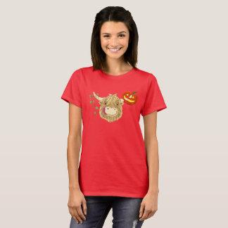 Glückliche Hochland-Kuh Halloween T-Shirt