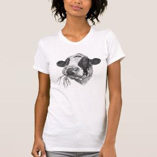 Glückliche Holsteiner-Milchkuh T-Shirt