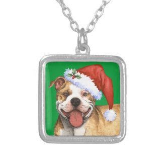Glückliche Howliday Pitbull Terrier Versilberte Kette