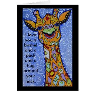 Glückliche I Liebe der Giraffen-Sie ein Scheffel Karte