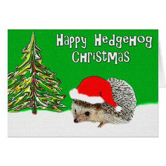 Glückliche Igels-Weihnachtsgruß-Karte Grußkarte