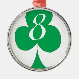 Glückliche Iren 8 der Vereine, tony fernandes Rundes Silberfarbenes Ornament
