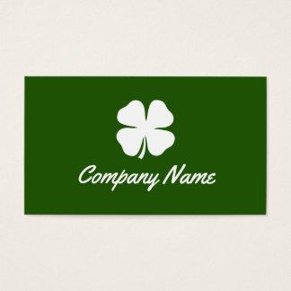 Glückliche irische Kleegrün-Visitenkarteschablone Visitenkarte