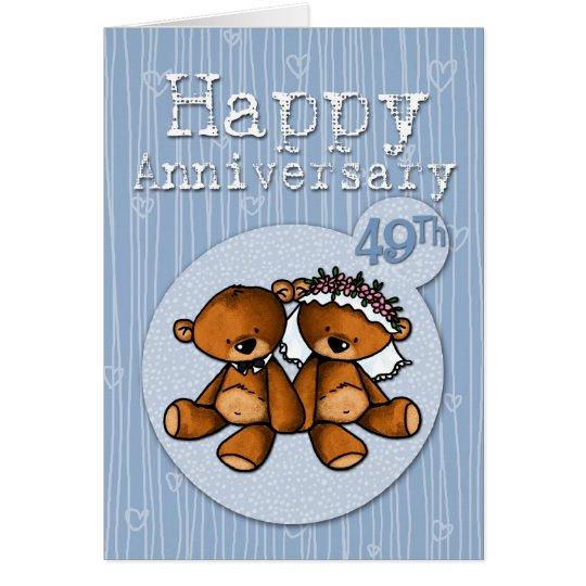 glückliche Jahrestagsbären - 49-jährig Grußkarte
